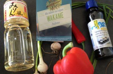 Ingredienten voor de fameuze zeewier salade